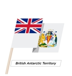 British Antarctic Territory Ribbon Waving Flag vector image