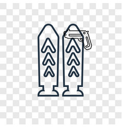 bullets concept linear icon isolated on vector image