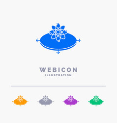 business concept idea innovation light 5 color vector image