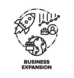 Business expansion success concept black vector