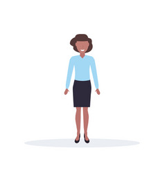 businesswoman standing pose happy african american vector image