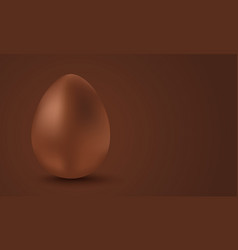 chocolate egg for easter vector image