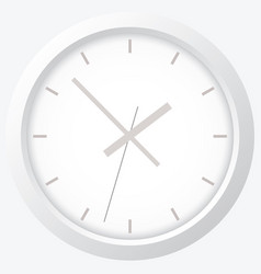 clock flat icon world time concept vector image