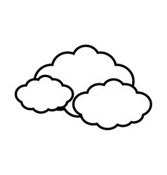 Cloud travel weather line vector