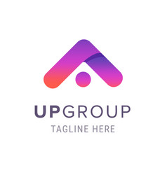 creative up group company logo business branding vector image