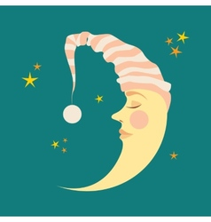 Crescent in the nightcap vector image