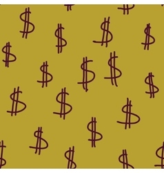 Dollars money cash green background vector image