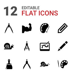 draw icons vector image