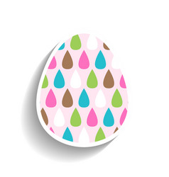 easter egg colored flat icon for holiday isolated vector image vector image