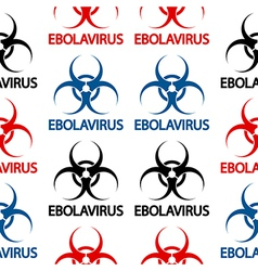Ebola danger signs seamless pattern vector image vector image