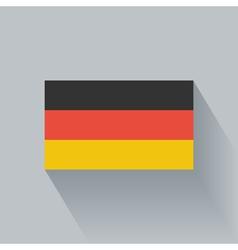 Flat flag germany vector