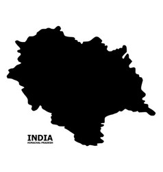 Flat map himachal pradesh state with vector