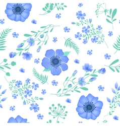 Floral Background Seamless Pattern Flowers vector image