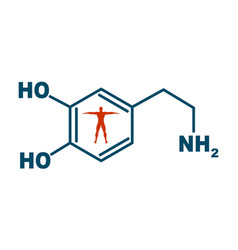 formula hormone dopamine vector image