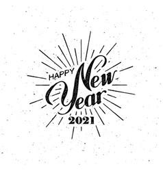 happy 2021 new year vector image
