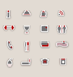 Hotel icons colage vector image