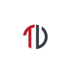 initial letter tu tv creative design logo vector image