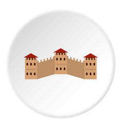 Majestic great wall of china icon circle vector