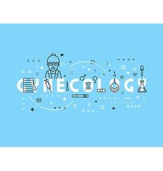 Medicine concept gynecology vector image