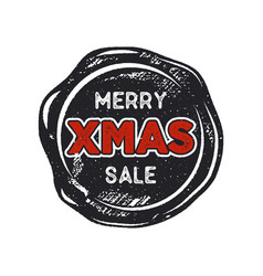 Merry christmas sale lettering and typography vector