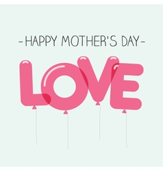 Mothers day card balloons vector