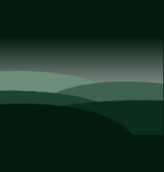 Mountains landscape view vector