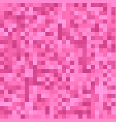 Pink pixel square tiled mosaic background - vector