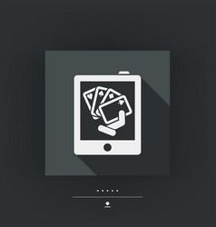 Poker game icon concept vector