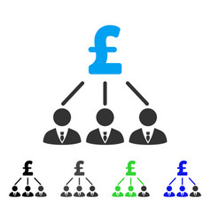 Pound shareholders flat icon vector