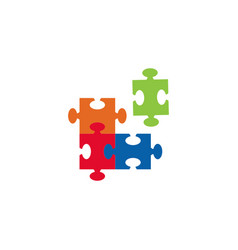 Puzzle graphic design template isolated vector