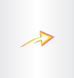red yellow abstract arrow symbol vector image