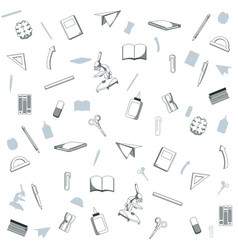 School utensils background vector
