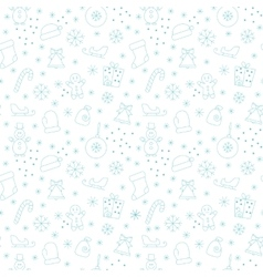 Seamless pattern new year vector image vector image