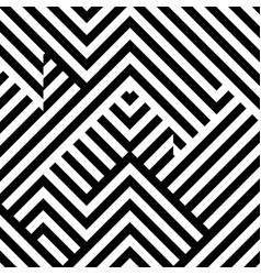 Seamless pattern with black white striped lines vector