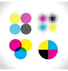 Set of CMYK vector image