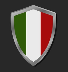 Shield with flag of Italy vector image