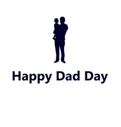 silhouette of dad with a small child vector image