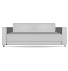Sofa isolated on white vector