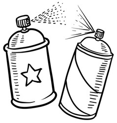 Spray paint cans vector