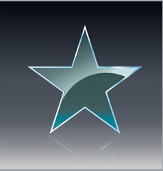 Star glass banners shine shape template on vector