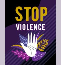 Stop violence against women poster design female vector