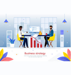 strategy for business start flat poster vector image