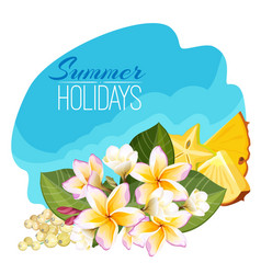 summer holidays colorful with vector image