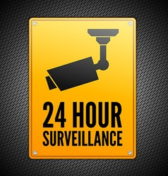 Surveillance sign vector image