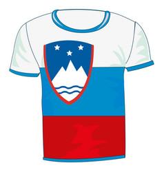 t-shirt flag sloveniya vector image