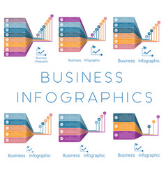 Template infographic lines lines vector