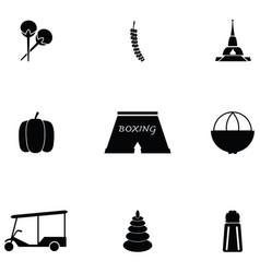 Thailand icon set vector
