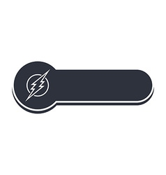 thunder bolt banner template vector image