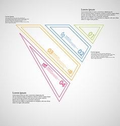 Triangle infographic template created by four vector
