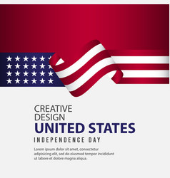 United states independent day poster creative vector